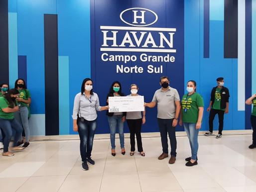 Campo Grande – ABRAPEC foi agraciada com o Troco Solidário da Havan Lojas de Departamentos.