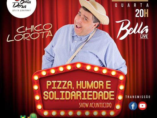 A Pizzaria Bella Dora e o comediante Chico Lorota realizam Ação social em prol da ABRAPEC.