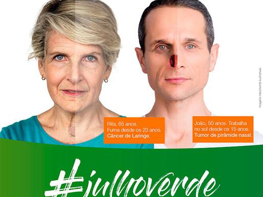 Julho Verde alerta para prevenção ao câncer de cabeça e pescoço.