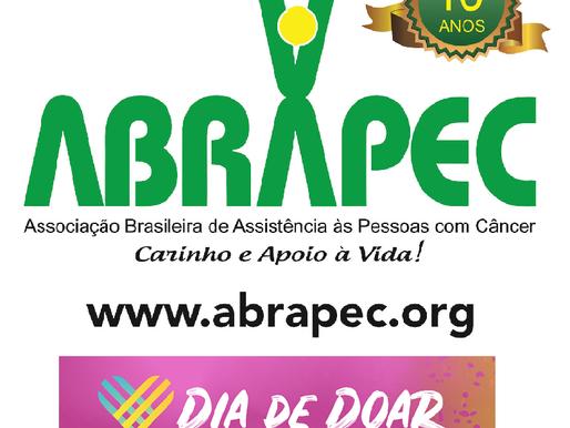 Dia de Doar será realizado em 1º de dezembro! A ABRAPEC conta com o seu apoio