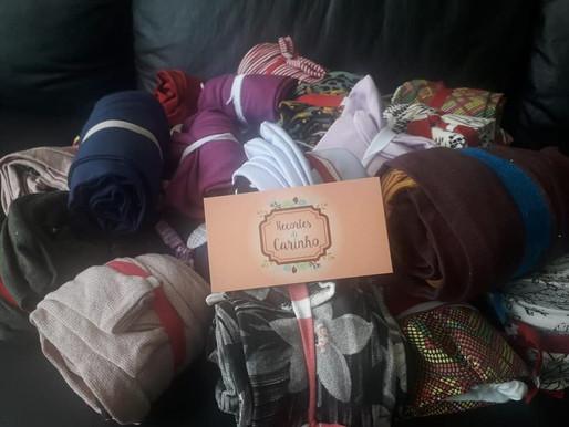 Jundiaí – Equipe Recortes de Carinho realizou doação de turbantes para a ABRAPEC.