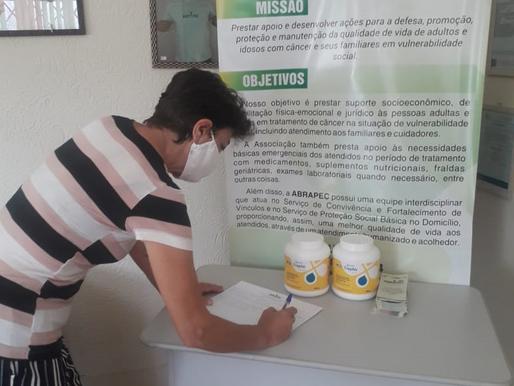 Salto – Mesmo com a pandemia da Covid19, pacientes da ABRAPEC continuam recebendo seus benefícios.