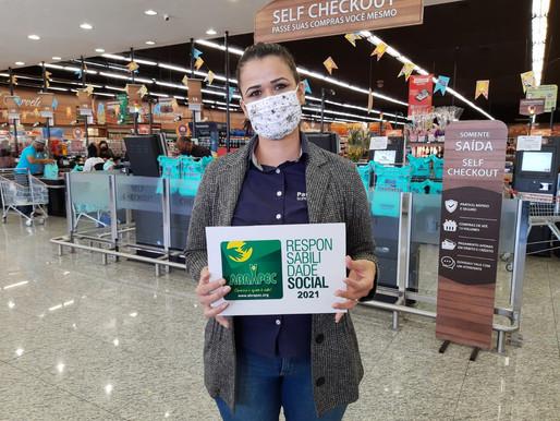 Jundiaí – Paulistão Supermercados recebe o Selo de Responsabilidade Social da ABRAPEC.