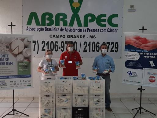 Campo Grande – ABRAPEC recebeu doação de 350 litros leite em campanha...