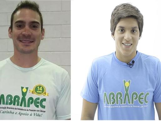 """ABRAPEC – Estamos torcendo por nossos padrinhos """"Arthur Zanetti e  Ana Marcela Cunha""""  Tokio 2020."""