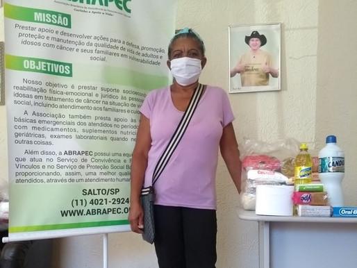 Salto – ABRAPEC realiza entrega de cestas básicas e kits de higiene.