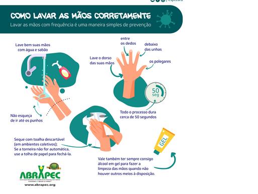 Saúde orienta sobre importância da higienização das mãos.