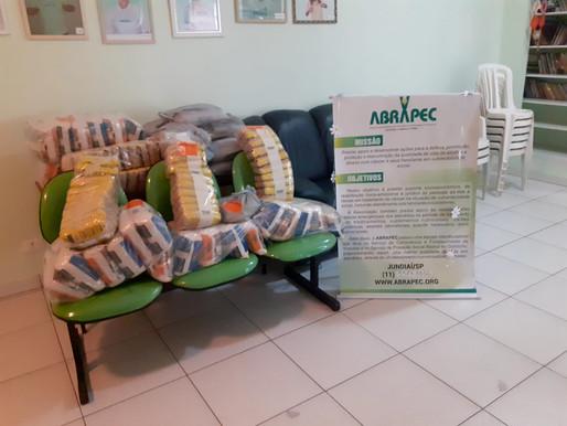 Jundiaí – Empresário realiza doação de 288 Kg de alimentos para a ABRAPEC