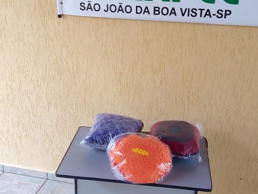 São João da Boa Vista – ABRAPEC agradece a doação de almofadas realizada pela Sra. Elza Trevisan