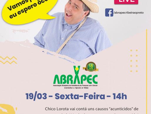 """Ribeirão Preto - Amanhã   Chico Lorota vai participara de uma LIVE contatando """"causos acunticidos"""""""