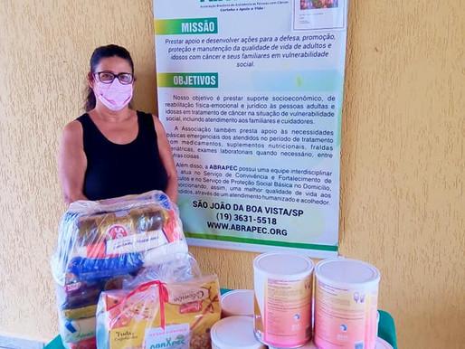 São João da Boa Vista–ABRAPEC intensifica a entrega de benefícios a pessoas em tratamento do Câncer