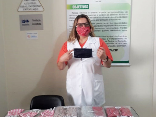 São João da Boa Vista – Grupo de Voluntários realizaram doação de Mascaras à ABRAPEC.