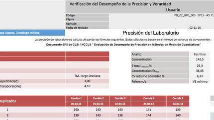 Aplicación excel EP15A3 para verificación de equipos -  Uso Libre!!!!!