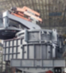 Дуговая сталеплавильная электроечь