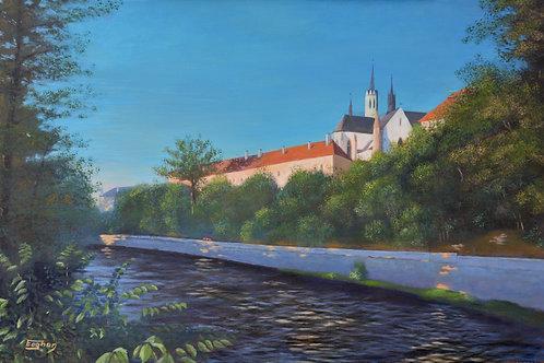 Giclee Print of Cloister over Vltava, Morning Sun