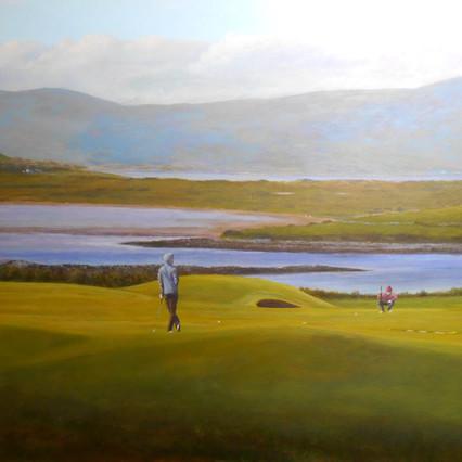 18th green, Co. Sligo, Sligo landscpae painting