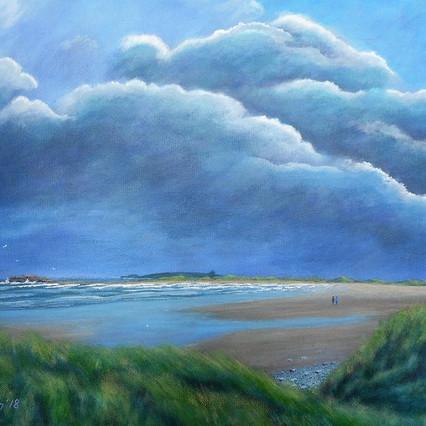 Stormy sky, Streedagh. Sligo coast painting