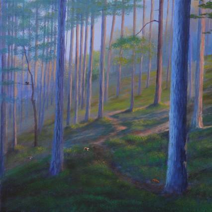 Autumn Forest Walk, Czech landscape painting