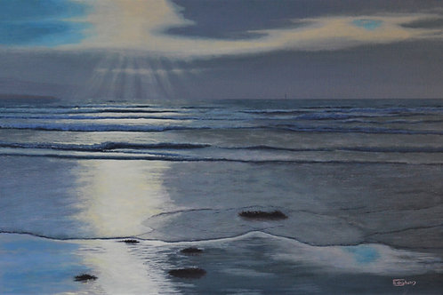 Giclee Print of Evening Tide, The Point
