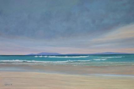 Rolling wave, Streedagh, Sligo coast, painting