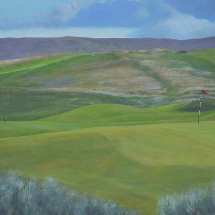 3rd Hole, Co. Sligo, Landcape painting