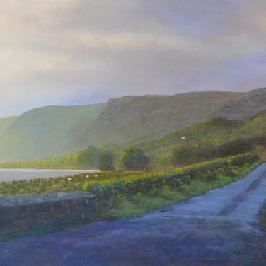 Glencar Road Evening Light, Sligo landcape, painting