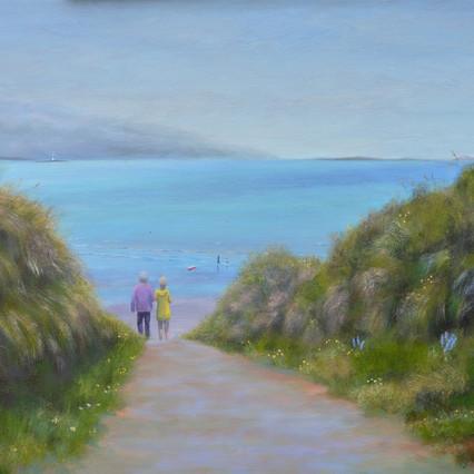 Beach Path, Sligo landscape painting