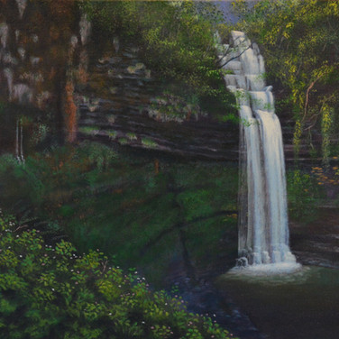 Glencar Waterfall, Sligo Leitrim landscape painting