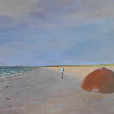 The Buoy, Rosses Point, Sligo landscape painting, sea.
