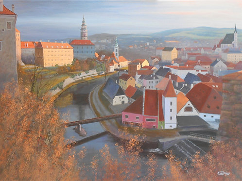 Giclee Print of Cesky Krumlov From East