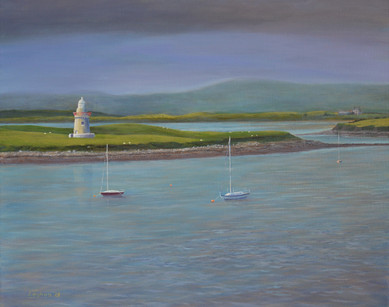 Oyster Island, Sligo coast painting