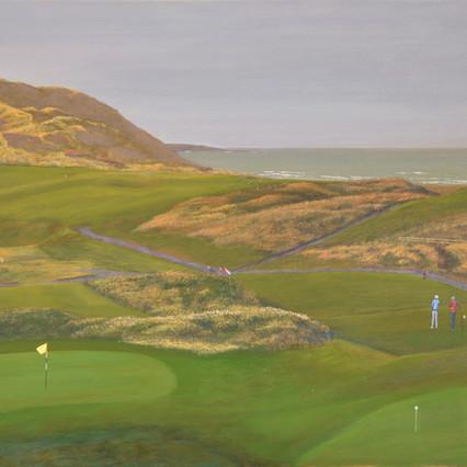 Strandhill G.C. Great Dune, Sligo coast painting.