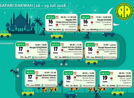 Safari Dakwah Yogyakarta 16 - 19 Juli 2018