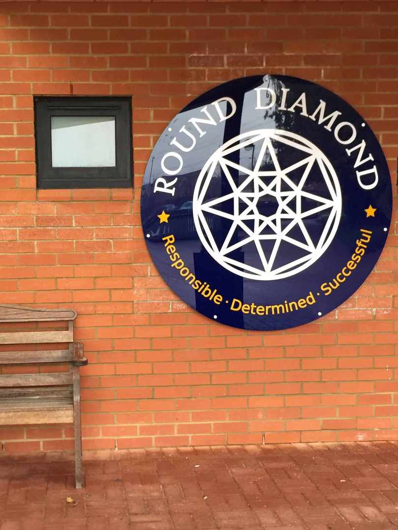 Round Diamond School Logo