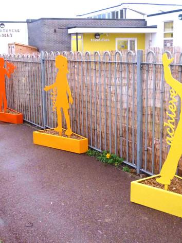 Steel sculptures for schools