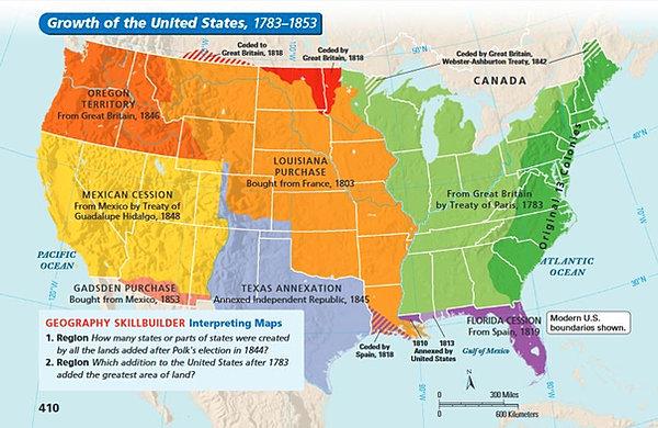 foxamericanhistory – Manifest Destiny Map Worksheet