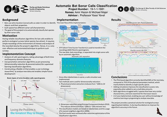 Automatic Bat Sonar Calls Classification