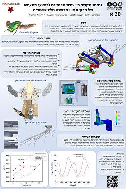 בחינת הקשר בין צורת הכנפיים לביצועי התעופה של חרקים על ידי הדפסה תלת-מימדית