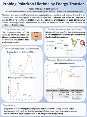 Probing Polariton Lifetime by Energy Transfer