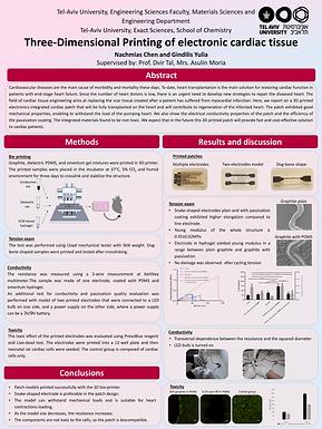 Three-Dimensional Printing of electronic cardiac tissue