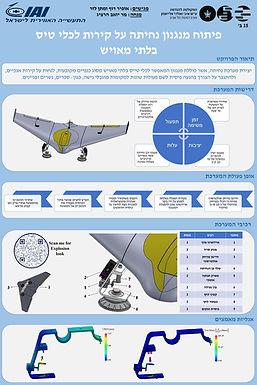 פיתוח מנגנון נחיתה על קירות לכלי טיס בלתי מאויש