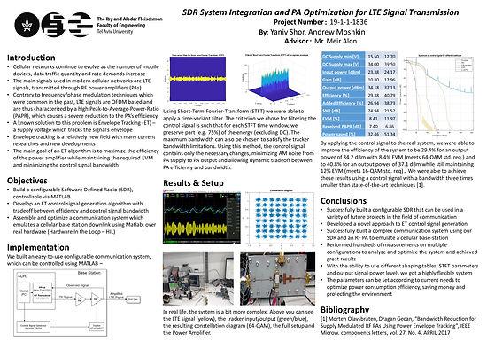 SDR System Integration and PA Optimization for LTE Signal Transmission