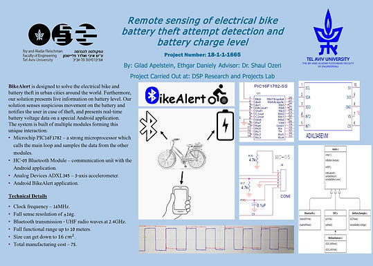 Remote sensing of electrical bike battery theft attempt detection and battery charge level