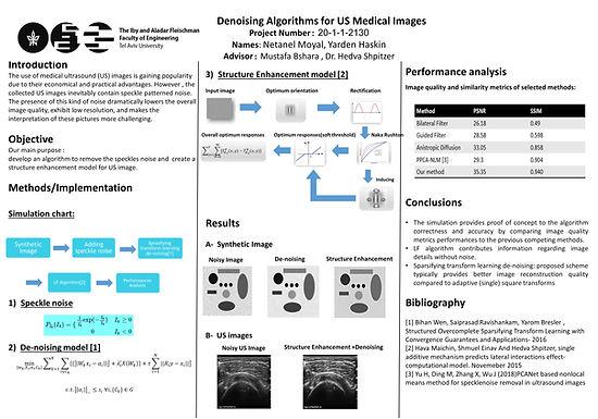 Denoising Algorithms for US Medical Images