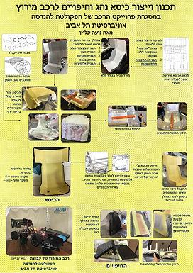 תכנון וייצור כיסא נהג וחיפויים לרכב מירוץ