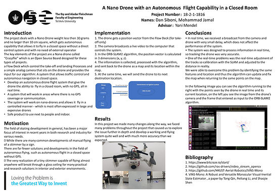 A Nano Drone with an Autonomous Flight Capability in a Closed Room