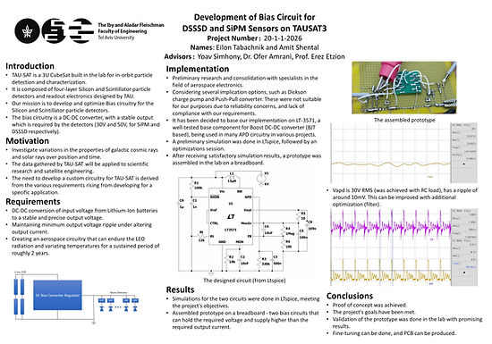 Development of Bias Circuit for DSSSD and SiPM Sensors on TAUSAT3