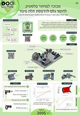 מכונה למחזור פלסטיק לחומר גלם להדפסת תלת מימד