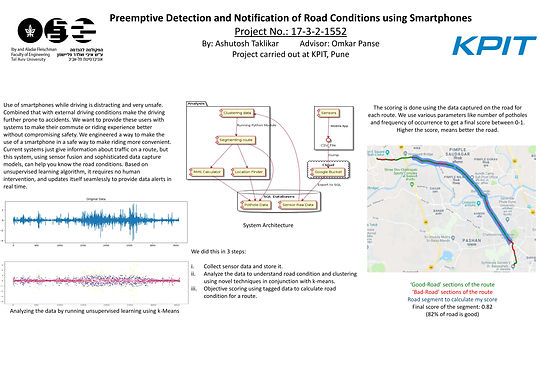 Preemptive Detection and Notification of Road Conditions using Smartphones