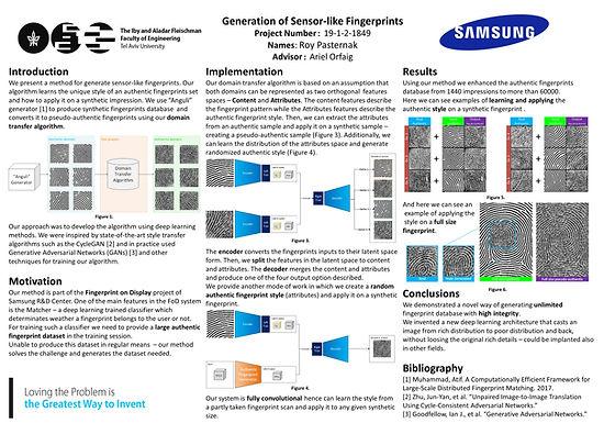 Generation of Sensor-like Fingerprints